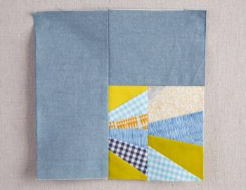 Polk Block: Paper-Piecing with Scraps
