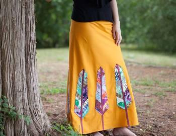 Birds of a Feather Maxi Skirt
