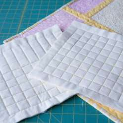 Sue Nickels shows you how to get the best results at home, using straight line stitching with a walking foot. She covers how to secure your starts so your stitching is secure, and how to handle the bulk of a quilt on a home machine.
