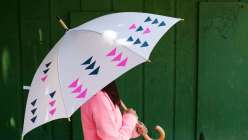 Learn to make this kid's craft project to make children's drawings and designs into an applique umbrella. This is a great easy summer crafts for kids project for your children.