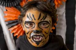This class will give you Halloween ideas for a classic costume with face paint. Create a tiger, zombie, vampire, and a Dia de los Muertos skeleton for face painting and a DIY Halloween costume.