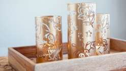 Make stenciled vases using the cricut explore.