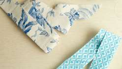 Make pretty binding tape in printed fabric, perfect for binding quilts.