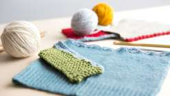 learn how to combine knitting and crochet to create decorative edgings