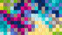Ashley Nickels teaches you to design a pixelated jelly roll quilt top.  Learn to develop your quilting skills with a design wall, and then chain-piece the squares