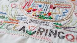 This workshop with Rebecca Ringquist teaches you embroidery basics. Learn to set up a hoop and threading needles – and dive into a visual encyclopedia of the most common stitches