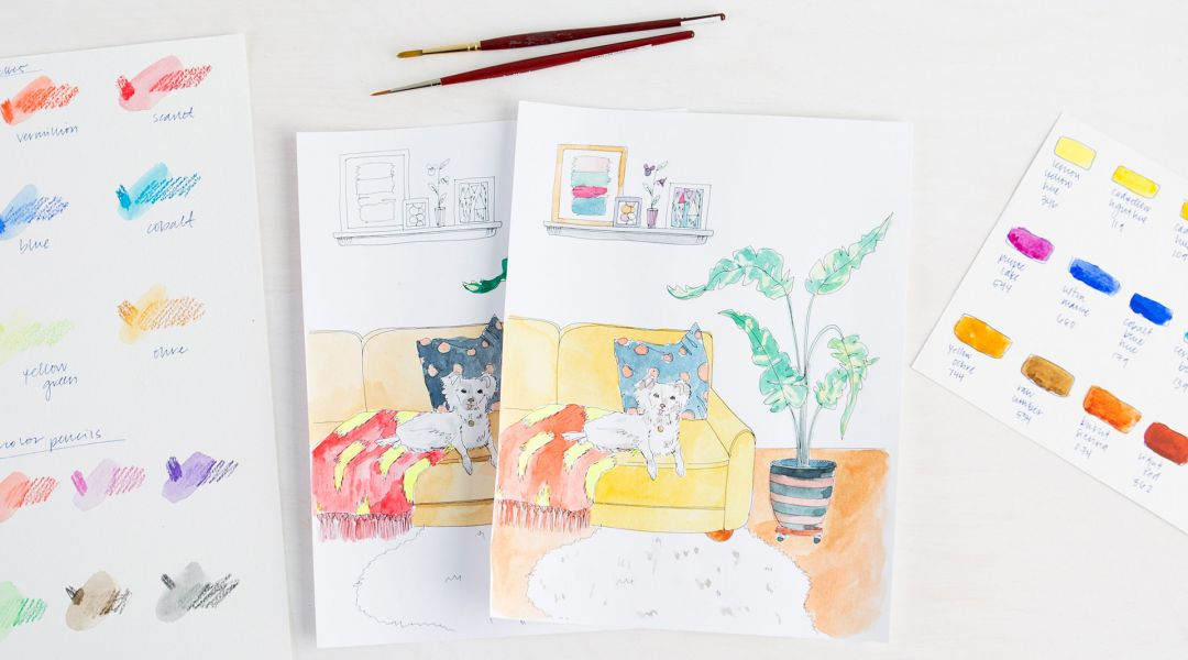 30 Coloring Pages with Courtney Cerruti, Lisa Congdon and Pam Garrison