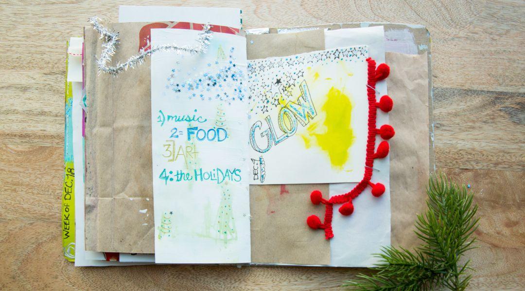Holiday Art Journaling