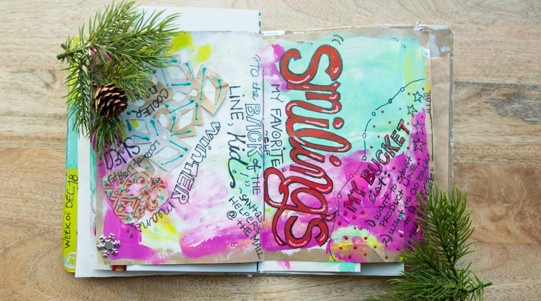 Holiday Art Journaling