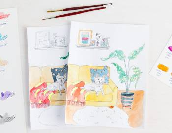 30 Coloring Pages: Get Creative with Watercolors and Wax Resist