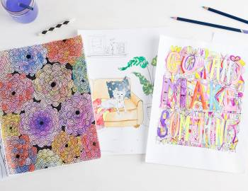 30 Coloring Pages: Get Creative with Watercolor Pencils