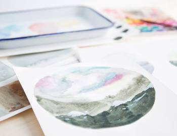 Playing with Watercolor: Part 2 - Painting Landscape Orbs
