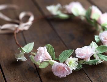 Paper Wedding Crafts: Create a Floral Head Wreath