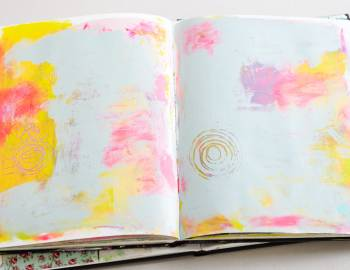 Art Journaling: Creating Backgrounds and Using Color