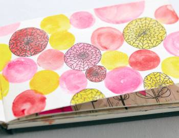 Sketchbook Explorations: Watercolor Backgrounds and Line Drawing