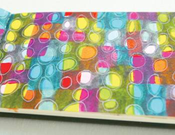 Sketchbook Explorations: Layered Abstract Drawing with Brush and Gel Pens