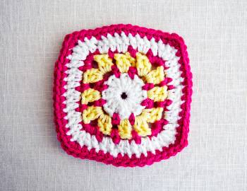 Granny Squares Baby Blanket: Square A