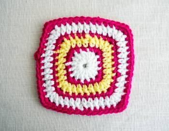 Granny Squares Baby Blanket: Square B
