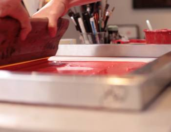 Screen Printing for Beginners: Screen Printing with Tracing Paper Stencils